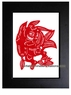 Framed Chinese Paper Cuts - Zodiac Symbol / Rabbit #21