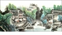 Large Chinese Landscape Painting - Village #16