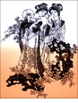 Large Chinese Paper Cuts - Maidens #445