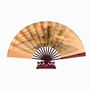 Chinese Silk Folding Fan with Stand - Landscape #217