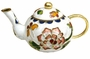 Miniature Chinese Cloisonne Teapot - Flowers #31