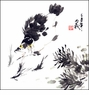 Original Chinese Brush Painting - Fishes #46