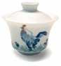 Premium Chinese Porcelain Tea Cup (with Lid) - Rooster / Auspiciousness #5