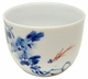Small Chinese Porcelain Tea Cup - Fish & Flowers #3