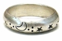 Sterling Silver Tibetan Ring - Sun, Moon, Stars, Birds #5