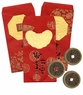 Traditional Chinese Red Envelopes with Coins #3 (Set of 3)