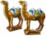 Tri-Color Tang Pottery - Camels