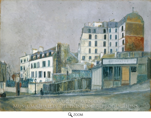 Maurice Utrillo, 40, Rue Ravignan oil painting reproduction