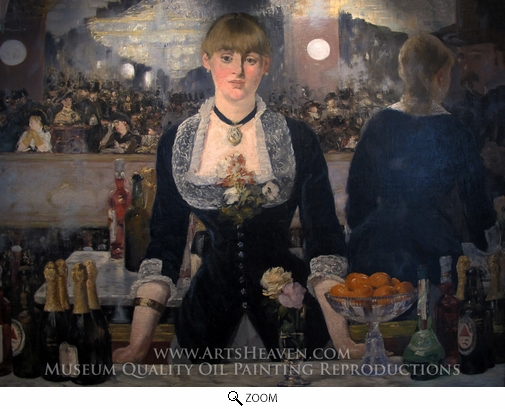 Edouard Manet, A Bar at the Folies-Bergere oil painting reproduction
