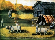 A Barn painting reproduction, Niko Pirosmani