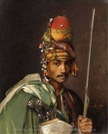 A Bashi Bazouk painting reproduction, Jean-Leon Gerome