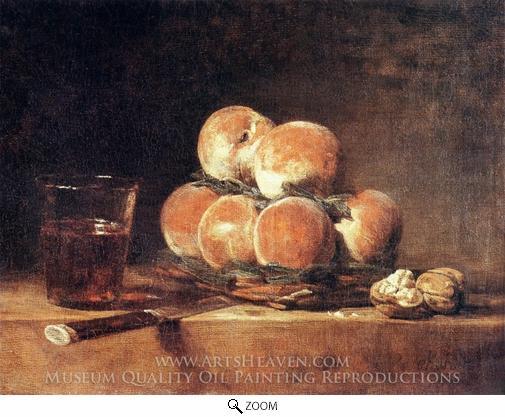 Jean Simeon Chardin, A Basket of Peaches oil painting reproduction