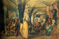 A Bazaar 2 painting reproduction, Amedeo Preziosi