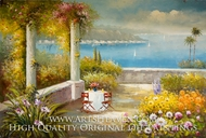 A Beautiful Floral Garden painting reproduction, Various Artist