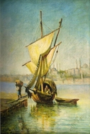 A Boat painting reproduction, Leonardo De Mango
