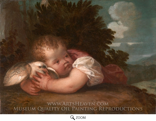 Titian, A Boy with a Bird oil painting reproduction