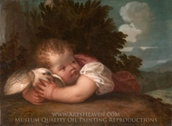 A Boy with a Bird painting reproduction, Titian