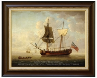 A Brigantine in a Calm Sea painting reproduction, John Cleveley, The Elder