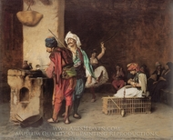 A Cafe in Cairo painting reproduction, Jean-Leon Gerome