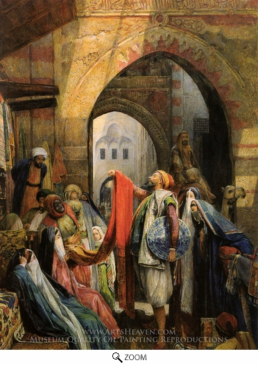 John Frederick Lewis, A Cairo Bazaar oil painting reproduction