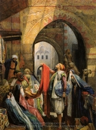 A Cairo Bazaar painting reproduction, John Frederick Lewis
