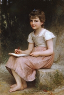 A Calling (Une vocation) painting reproduction, William Adolphe Bouguereau