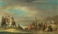 A Campaign Scene painting reproduction, Francesco Simonini