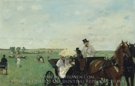 A Carriage at the Races painting reproduction, Edgar Degas