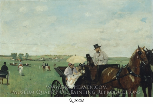 Edgar Degas, A Carriage at the Races oil painting reproduction
