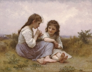 A Childhood Idyll (Idylle Enfantine) painting reproduction, William A. Bouguereau