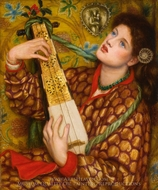 A Christmas Carol painting reproduction, Dante Gabriel Rossetti