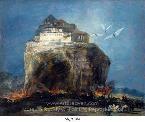 Francisco De Goya, A City on a Rock oil painting reproduction