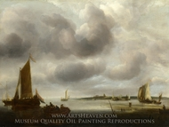 A Coast Scene painting reproduction, Jan Van De Cappelle