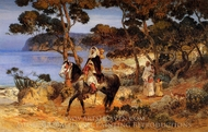 A Coastal Trail painting reproduction, Frederick Arthur Bridgman