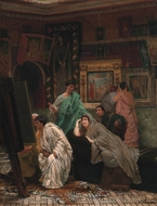 A Collection of Pictures painting reproduction, Sir Lawrence Alma-Tadema
