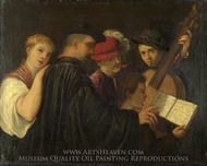 A Concert painting reproduction, Titian