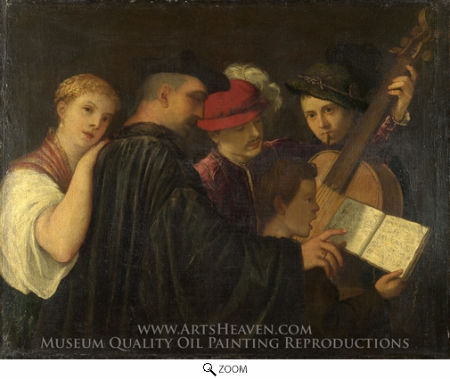 Titian, A Concert oil painting reproduction