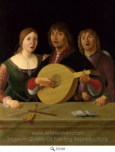 Lorenzo Costa, A Concert oil painting reproduction