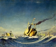 A Convoy 1918 painting reproduction, Herbert B. J. Everett
