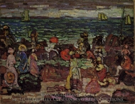 A Dark Day painting reproduction, Maurice Prendergast