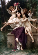 A Dream of Spring (Reve de printemps) painting reproduction, William A. Bouguereau