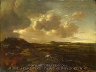 A Dune Landscape painting reproduction, Willem Buytewech, The Younger