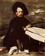 A Dwarf Holding a Tome on His Lap painting reproduction, Diego Velazquez
