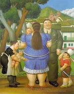 A Family painting reproduction, Fernando Botero