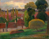 A Farm in Brittany painting reproduction, Paul Gauguin