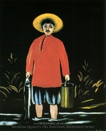 A Fisherman painting reproduction, Niko Pirosmani
