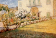 A Florentine Villa painting reproduction, William Merritt Chase