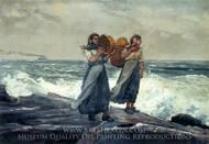 A Fresh Breeze painting reproduction, Winslow Homer
