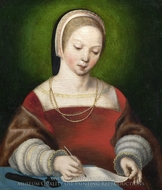 A Girl Writing painting reproduction, Netherlandish Painter