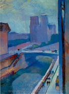A Glimpse of Notre Dame in the Late Afternoon painting reproduction, Henri Matisse